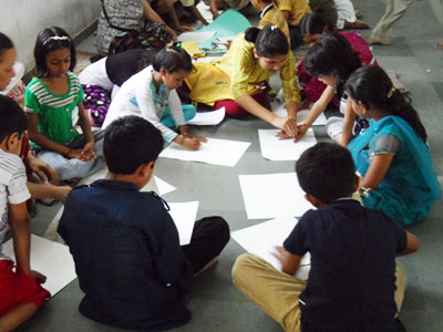 Kids Engaged In Art Activity